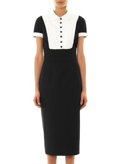 L'Wren Scott Headmistress wool-blend dress