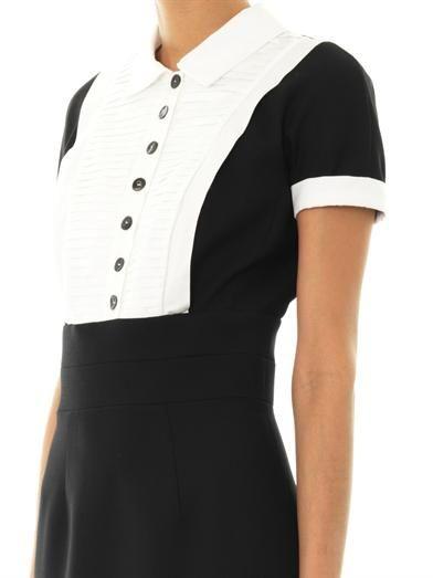 L'Wren Scott Headmistress wool-blend dress