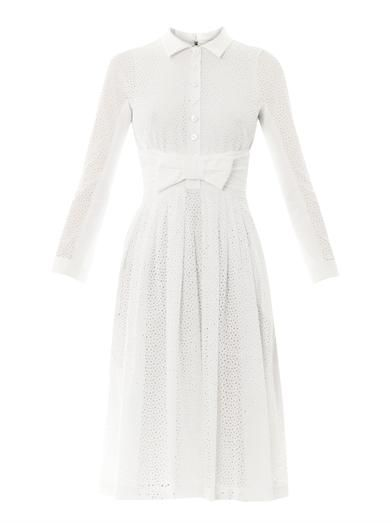L'Wren Scott Broderie anglaise bow-front dress