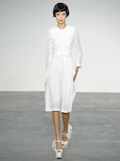 L'Wren Scott Broderie anglaise bow-front dress