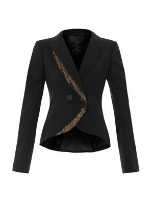 Tailored embroidered fishtail jacket