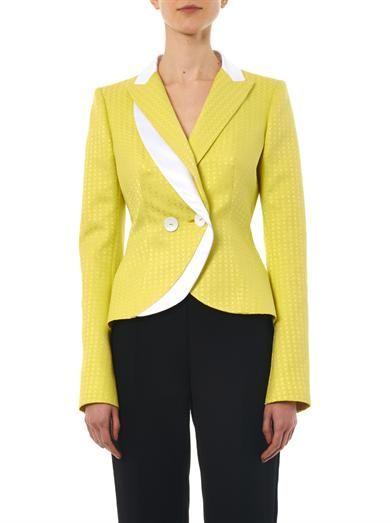 L'Wren Scott Floral-jacquard tailored jacket