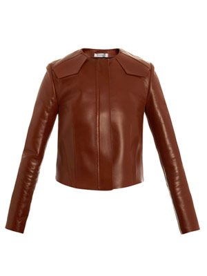 Valance structured leather jacket