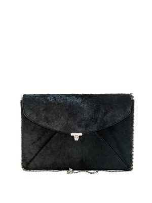 Ponyhair envelope clutch