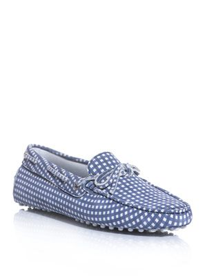 Heaven gingham check slipper shoes