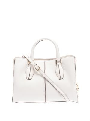 D-Cube leather small tote