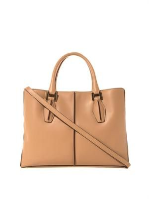 D-Cube leather medium tote