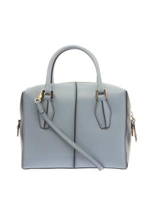 D-Cube small leather bowler tote