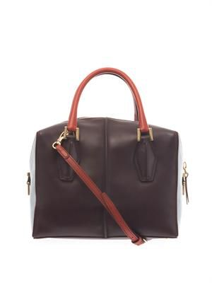 D-Cube small leather bowler bag
