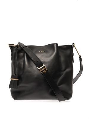 Flower medium leather bag