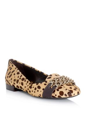 Hana chain cheetah-print shoes