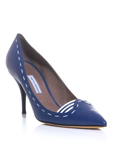 Tabitha Simmons Stitch leather court shoes