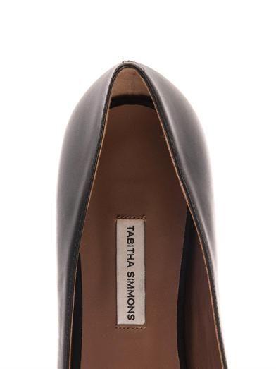 Tabitha Simmons Alexa leather and calf-hair flats