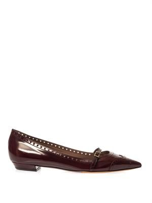 Belfy leather flats
