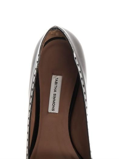 Tabitha Simmons Belfy charcoal-grey leather flats