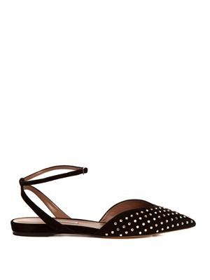 Vera studded suede flats