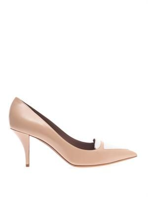 Hayden bi-colour leather pumps