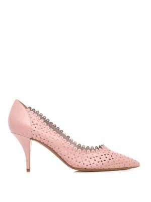 Perforated LD leather pumps