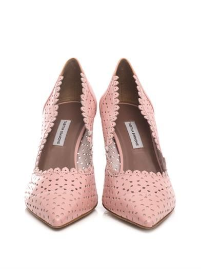 Tabitha Simmons Perforated LD leather pumps