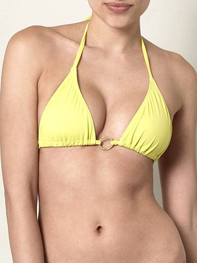 Tara Matthews Ring detail triangle bikini top