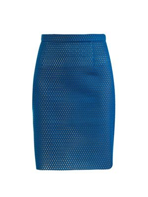 Techy mesh pencil skirt