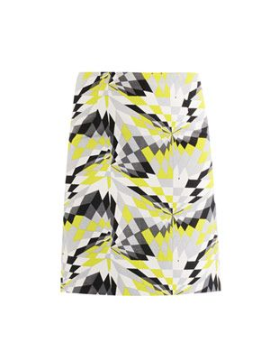 Isosceles print pencil skirt