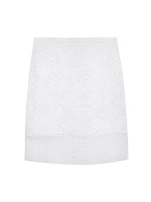 Basia lace pencil skirt