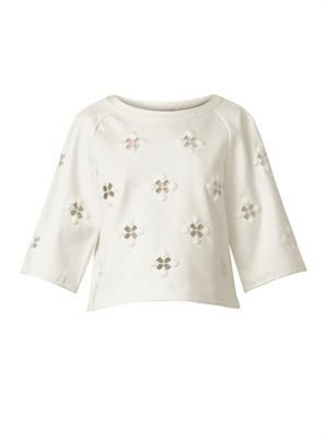 Boutis embroidered jersey top