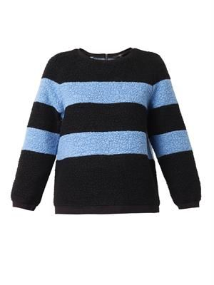 Textured wool-blend striped sweater