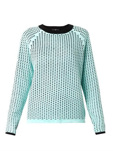 Tibi Double-layer cotton knit sweater