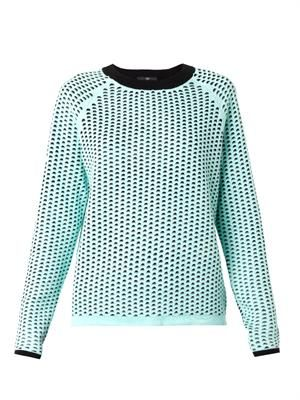Double-layer cotton knit sweater
