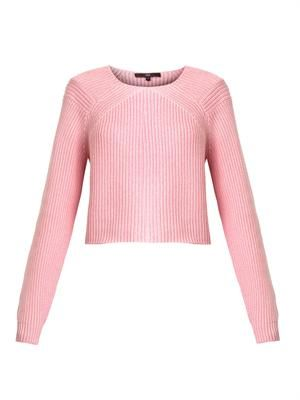 Plaited pullover sweater