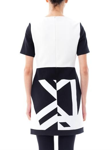 Tibi Monochrome graphic-print dress