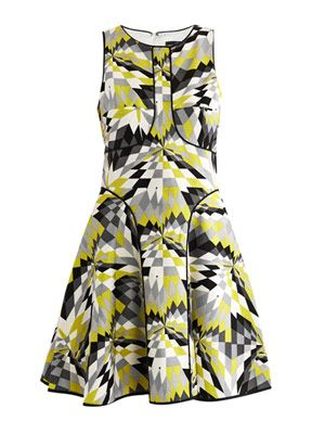 Isosceles-print skater dress