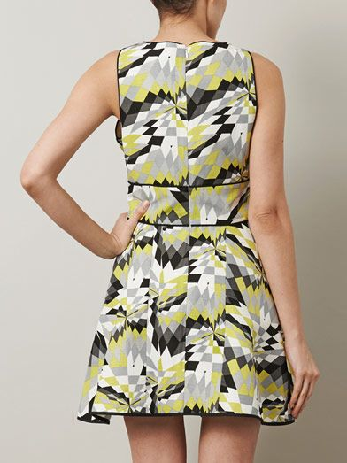 Tibi Isosceles-print skater dress