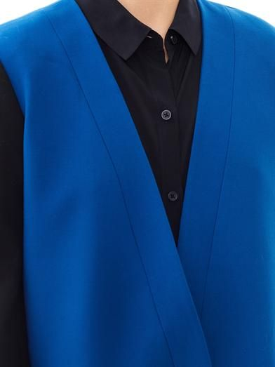 Tibi Anson bi-colour jacket