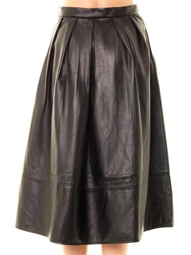 Tibi Full leather skirt