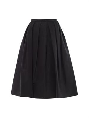 Simona silk-faille skirt