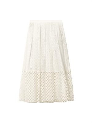Sonoran eyelet lace skirt