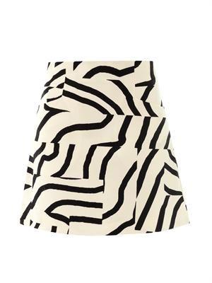 Zebra maze-print skirt
