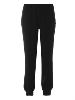 Crepe jogging trousers