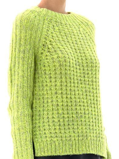 Tibi Waffle-knit sweater
