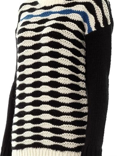 Tibi Contrast wavy stripes sweater