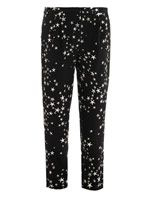 Star-print silk trousers