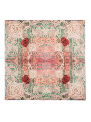 The Ryad rose mosaic scarf