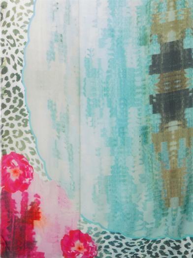 Athena Procopiou On The Lakes Of Udaipur-print scarf