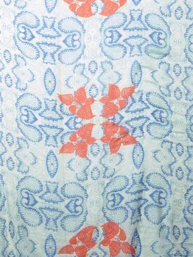 Athena Procopiou Flowering Palampore-print fine-knit scarf