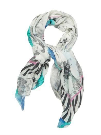 Athena Procopiou Naked In Sri Lanka-print fine-knit scarf