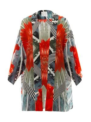 Palawani printed silk cover-up