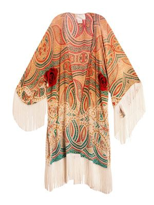Ryad Princess fringed kaftan